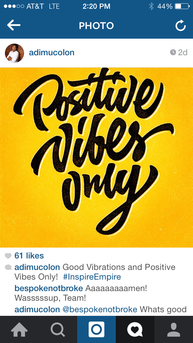 positive vibes only