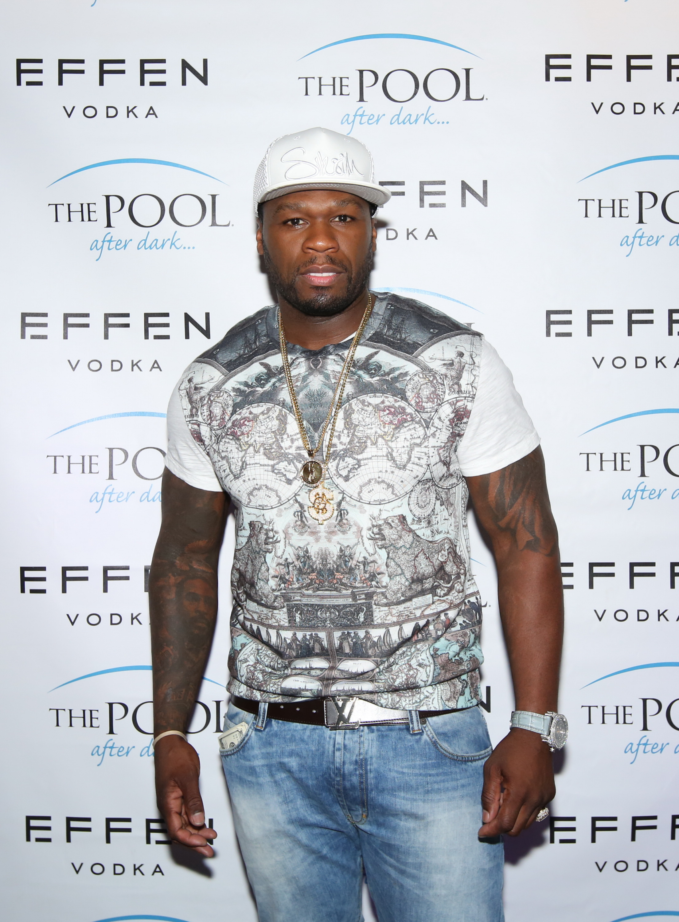 50 Cent Celebrates His Birthday At The Pool After Dark At Harrah's Resort