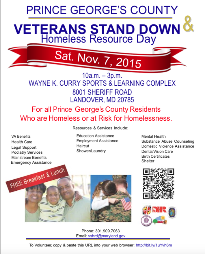 Prince Georges County Veterans Stand Down Homeless Resource Day