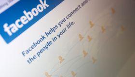 Illustrative image of the Facebook website.