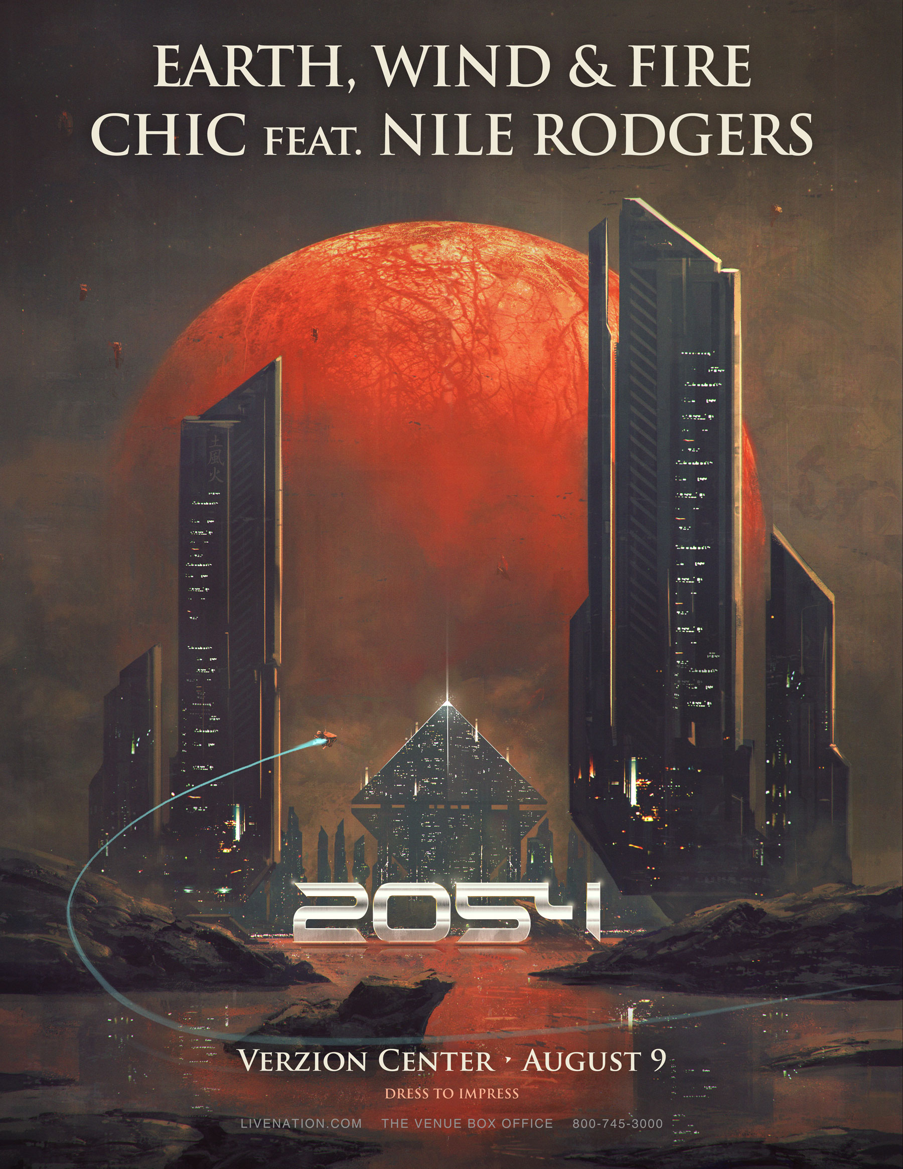 Earth, Wind & Fire and CHIC featuring Nile Rodgers
