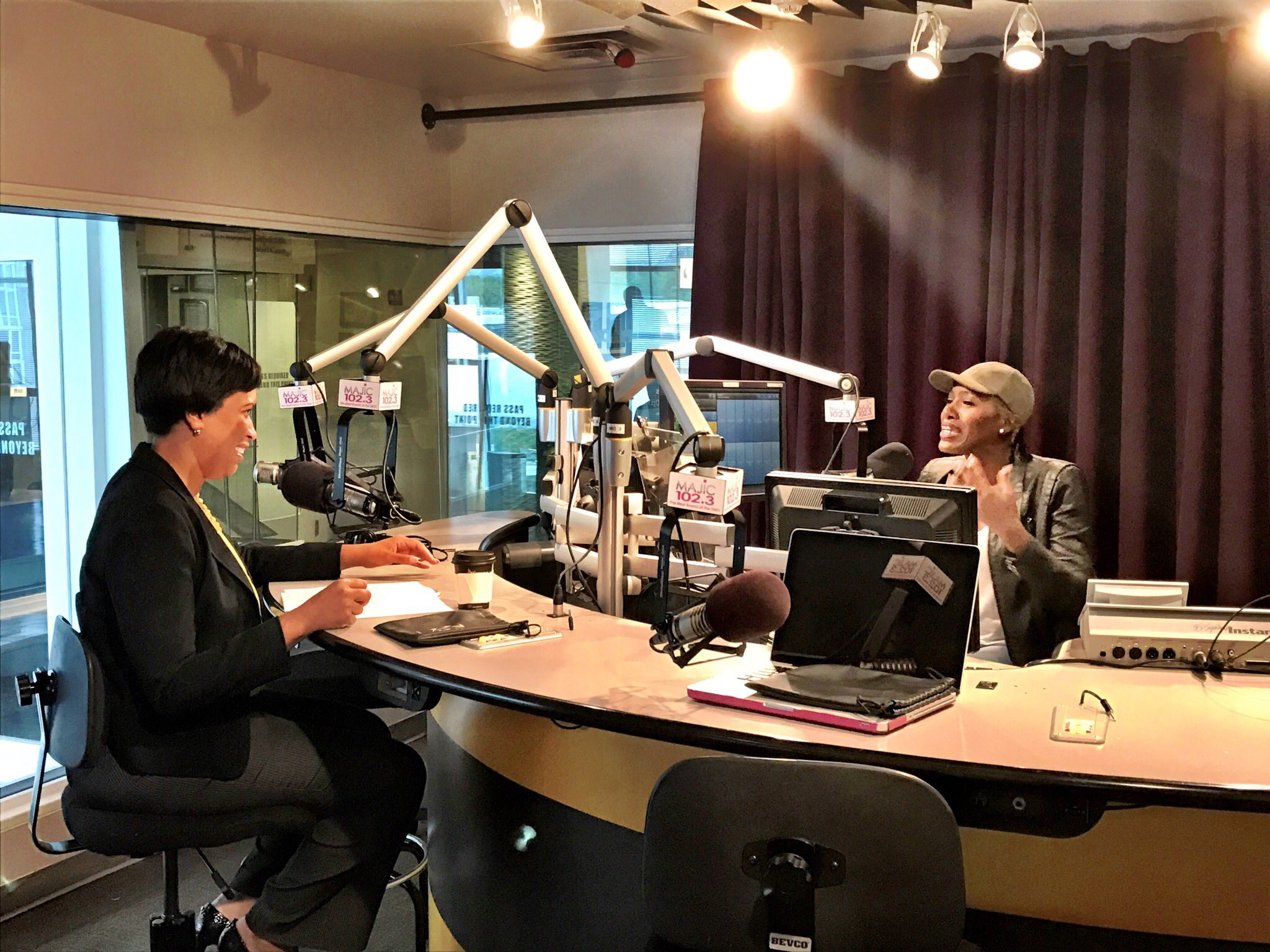 Mayor Muriel Bowser With Vic Jagger