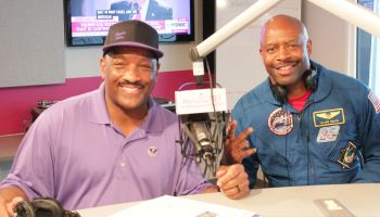 Leland D. Melvin With Donnie Simpson