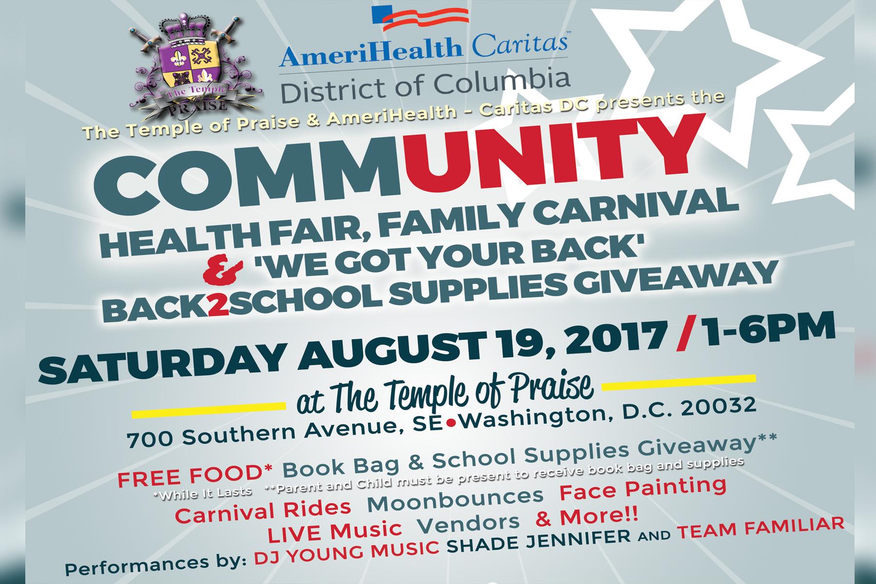 Amerihealth Caritas Community Health Fair, Carnival & More
