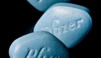 Tablets of Pfizer's erectile dysfunction drug Viagra are arr
