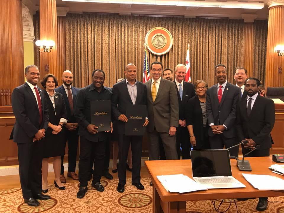 Donnie Simpson & Alfred C. Liggins Receive D.C. Resolutions