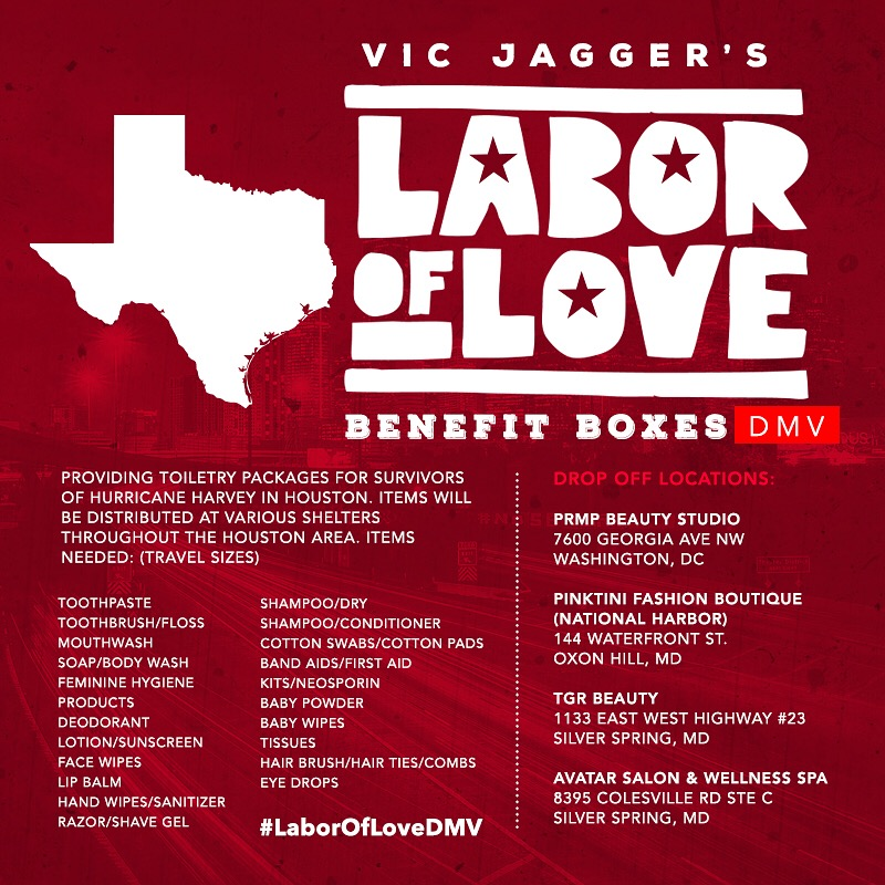 Vic Jagger's Labor Of Love Benefit Boxes