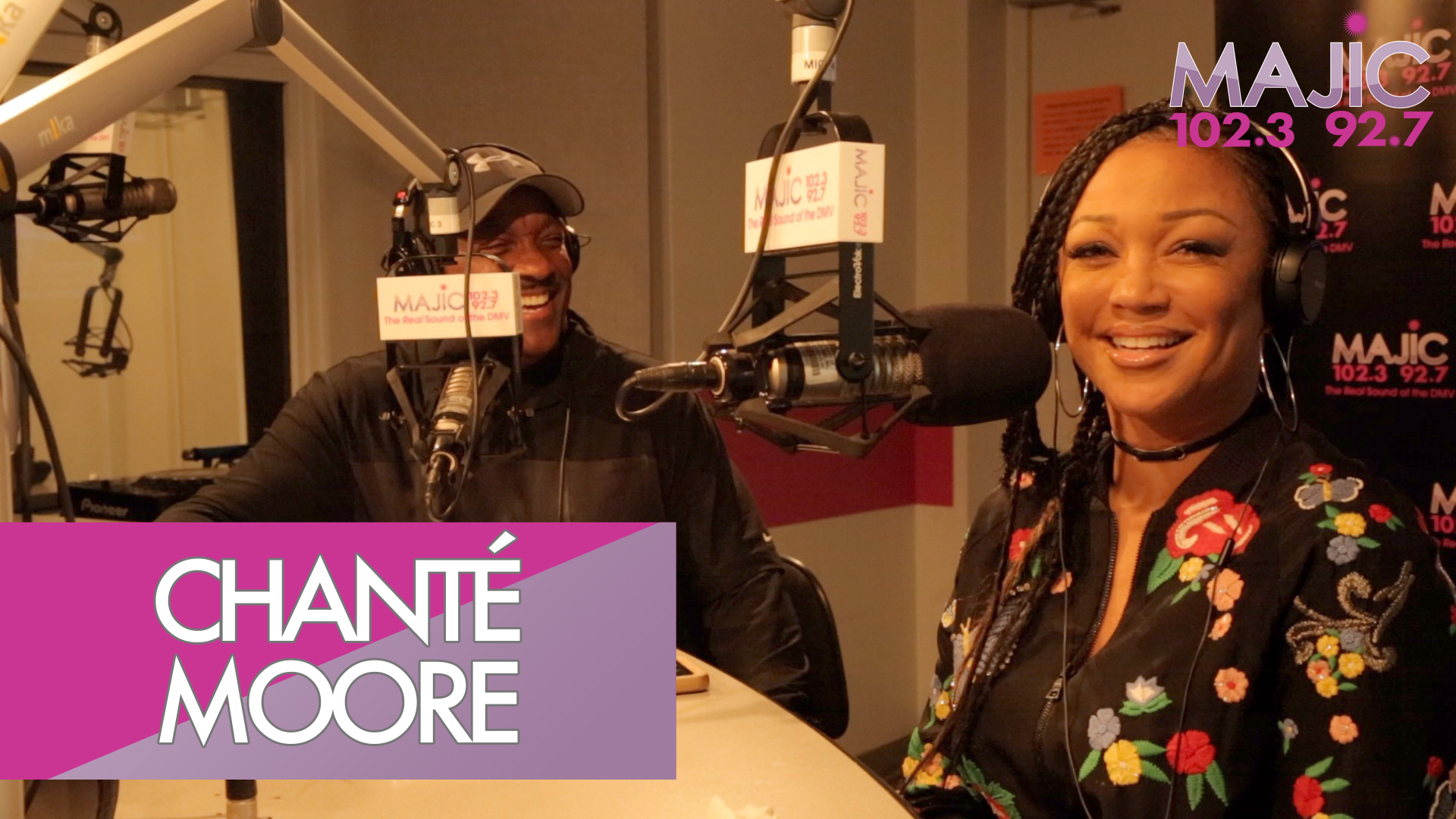 Chanté Moore With Donnie Simpson