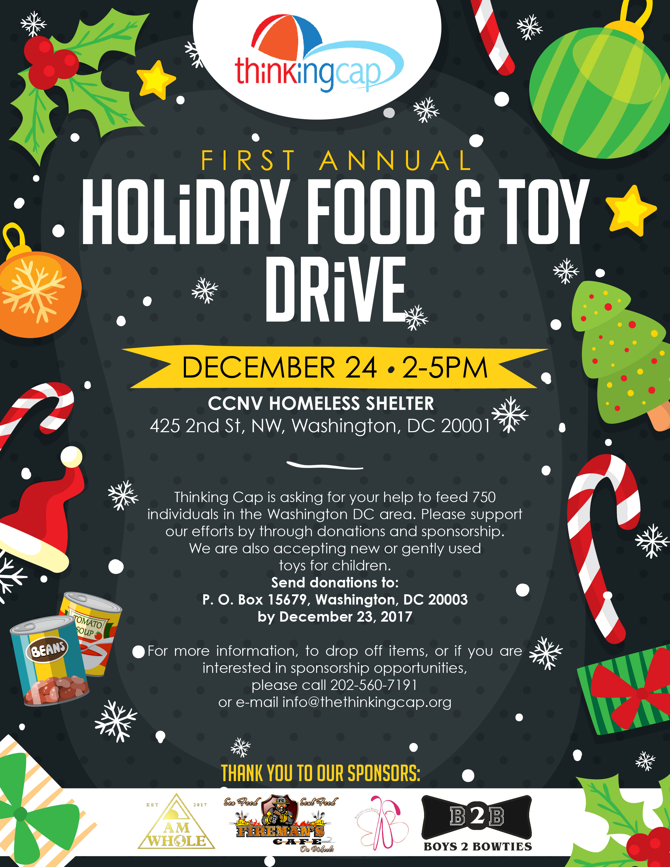Thinking Cap Toy Drive