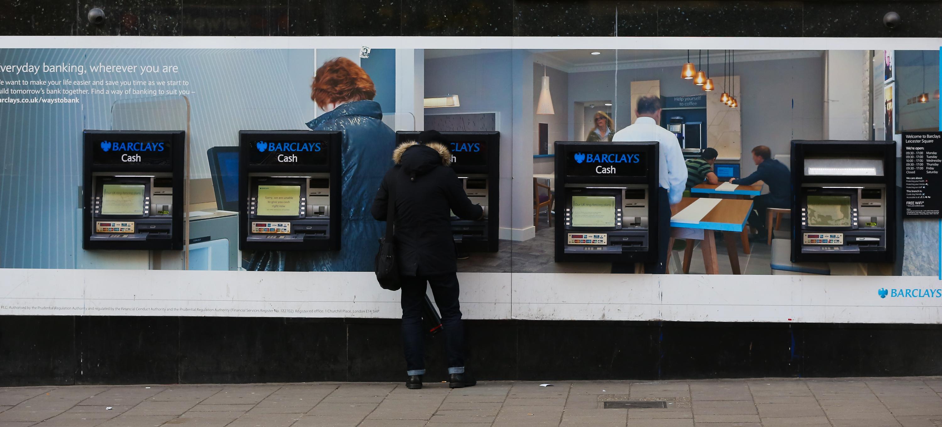Barclays cashpoint machines