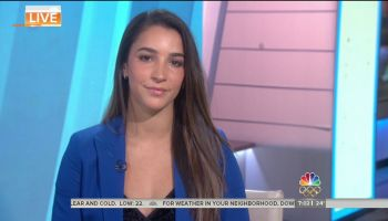 Aly Raisman during an appearance on NBC's 'Today Show'