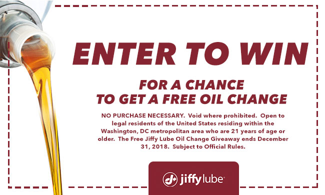 Jiffy Lube Enter to Win Contest_Enter-to-win Contest_March 2018