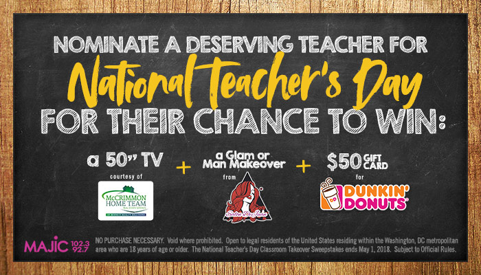 Majic National Teacher's Day Contest