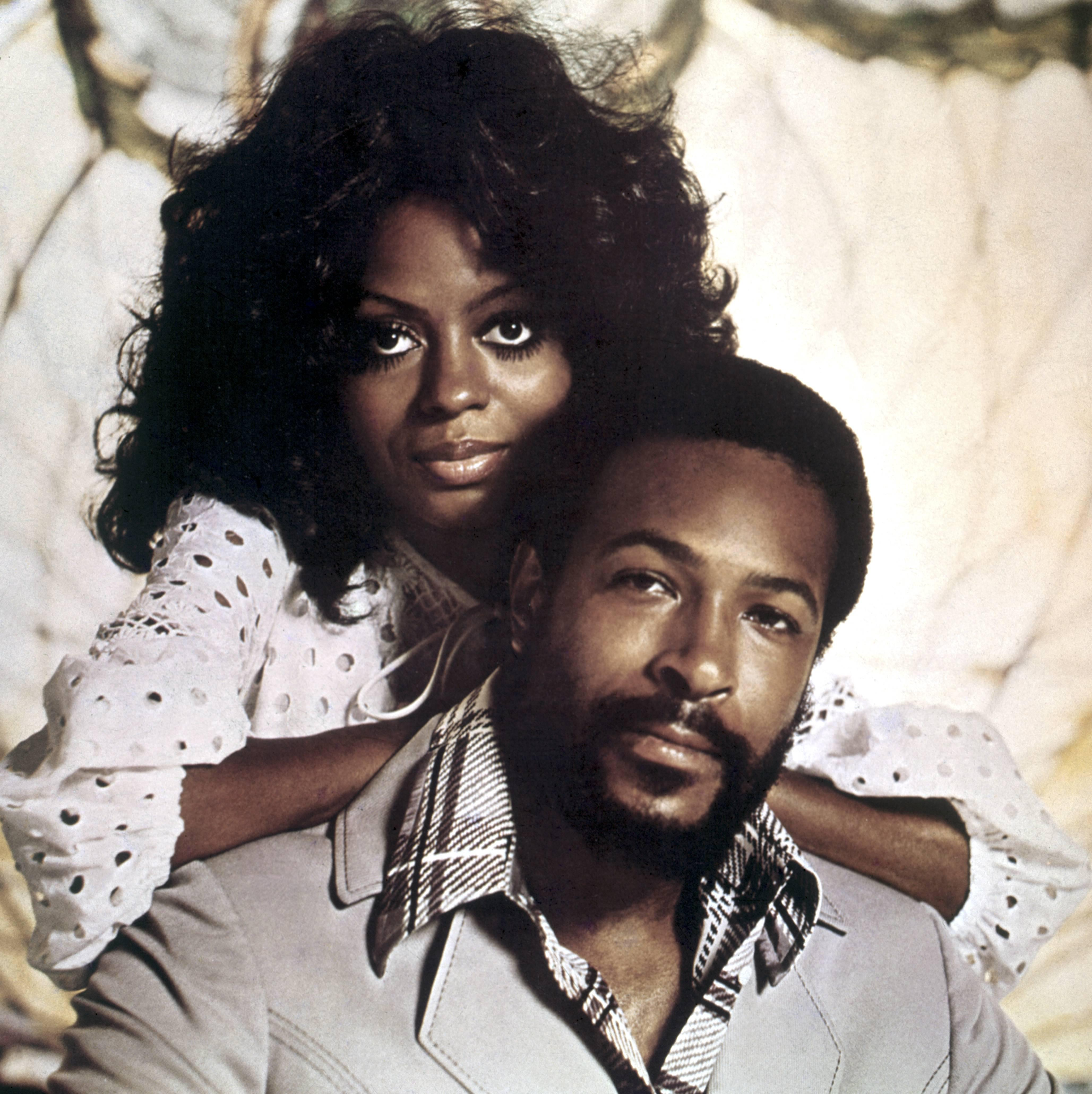 Photo of Marvin GAYE and Diana ROSS