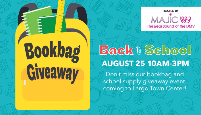 Largo Town Center Back To School Backpack Promotion