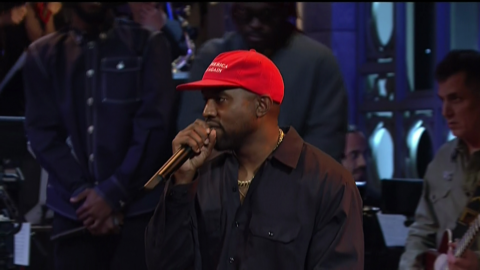 Adam Driver with musical guest Kayne West hosts the 44th season episode 1 NBC's 'Saturday Night Live'