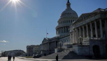 WASHINGTON, DC - DECEMBER 15: Pedestrians walk outside of the U