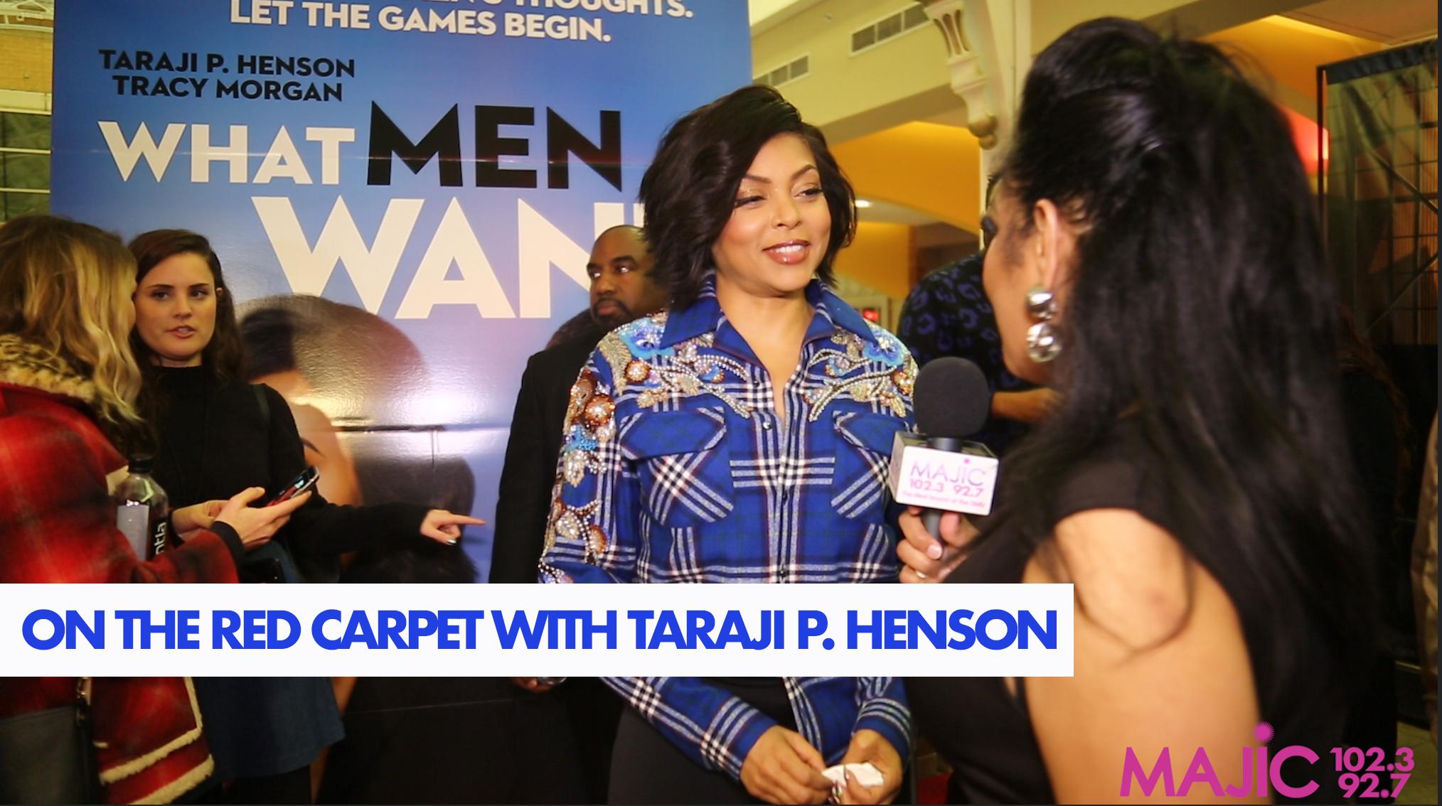 Madelyne Woods & Taraji P. Henson At The What Men Want Washington D.C. Premiere