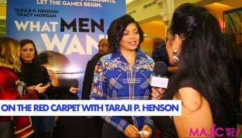 Madelyne Woods & Taraji P. Henson At The What Men Want Washington D.C. Premiere