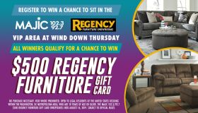$500 Regency Furniture gift card Sweepstakes