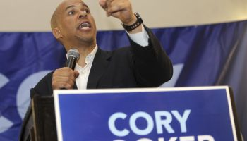 Campaign rally for Newark Mayor and U.S. Senate candidate Cory Booker