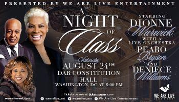 Dionne Warwick, Peabo Bryson, and Deniece Williams Concert