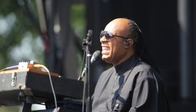 Stevie Wonder performs during a surprise pop up show at Armory Mall